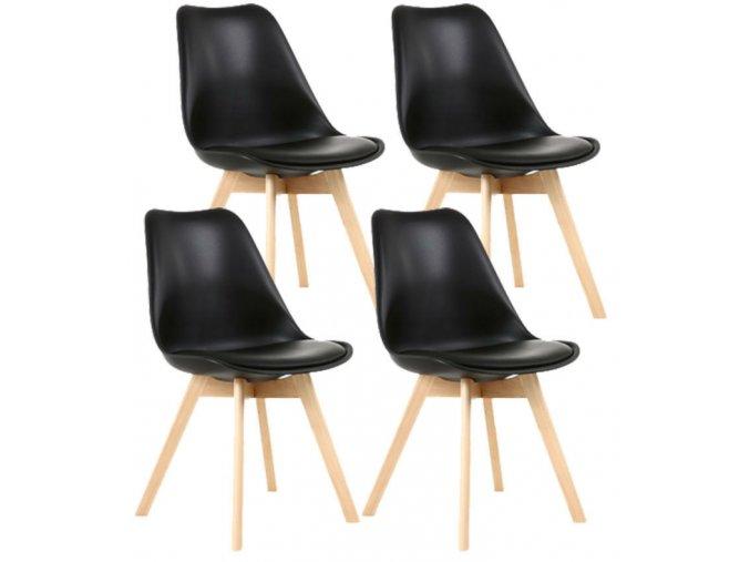 Jedálenská stolička SCANDI čierna