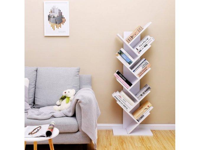 Regál na knihy Tree biely
