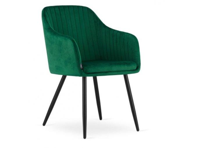 Zamatová stolička Madrid zelená