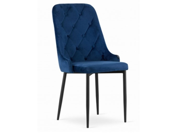 Zamatová stolička Dublin modrá