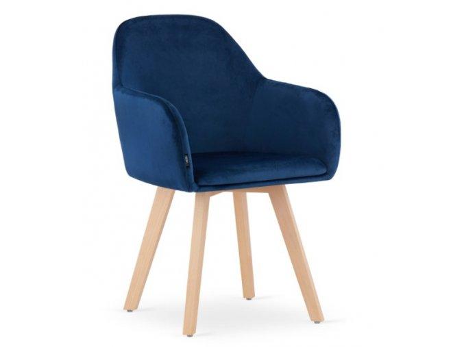 Zamatová stolička Rome modrá