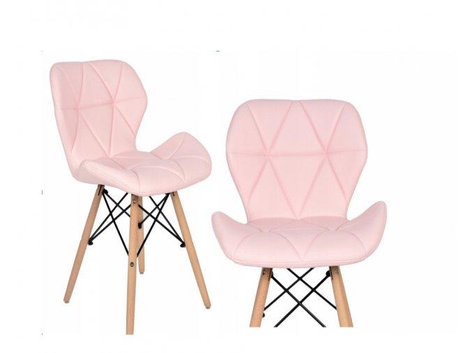 Jedálenská stolička EKO ružová