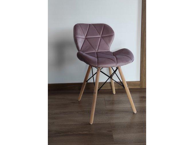 Jedálenská stolička SKY tmavo ružová - škandinávsky štýl