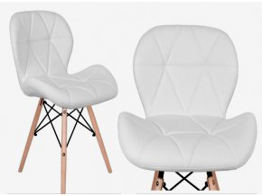 Jedálenská stolička EKO biela