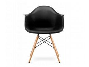 Jedálenská stolička WAVE čierna
