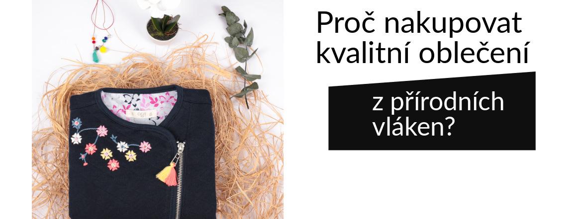 kvalitní oblečení z přírodní bavlny