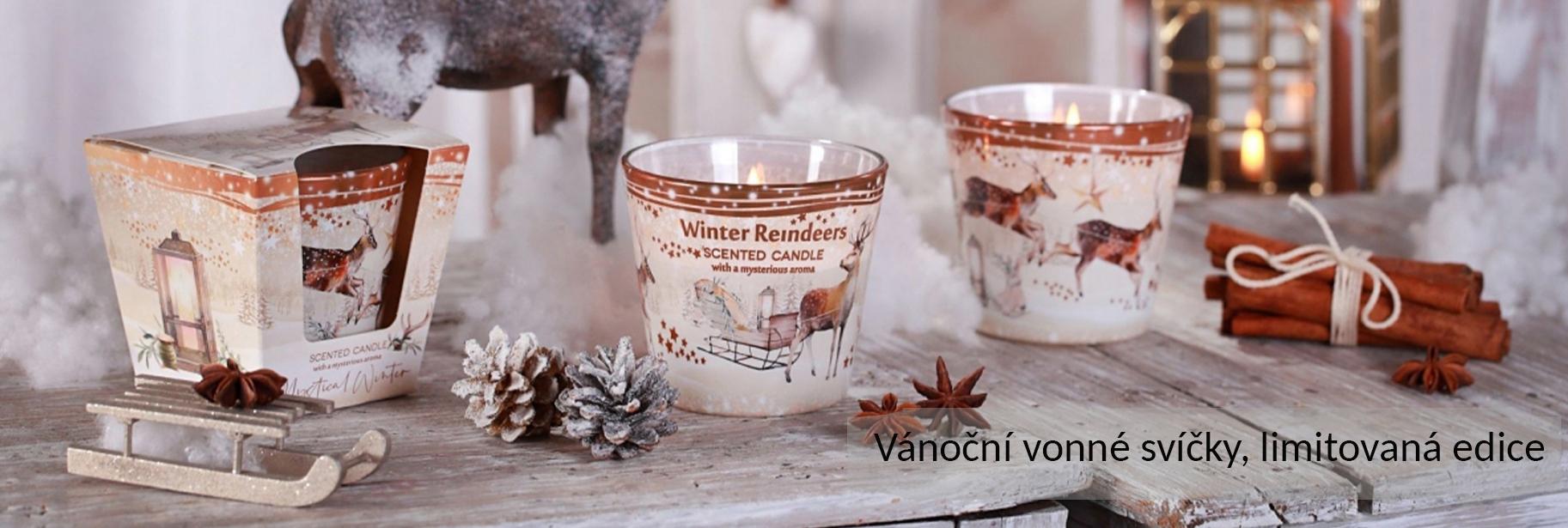 Vánoční vonné svíčky DK