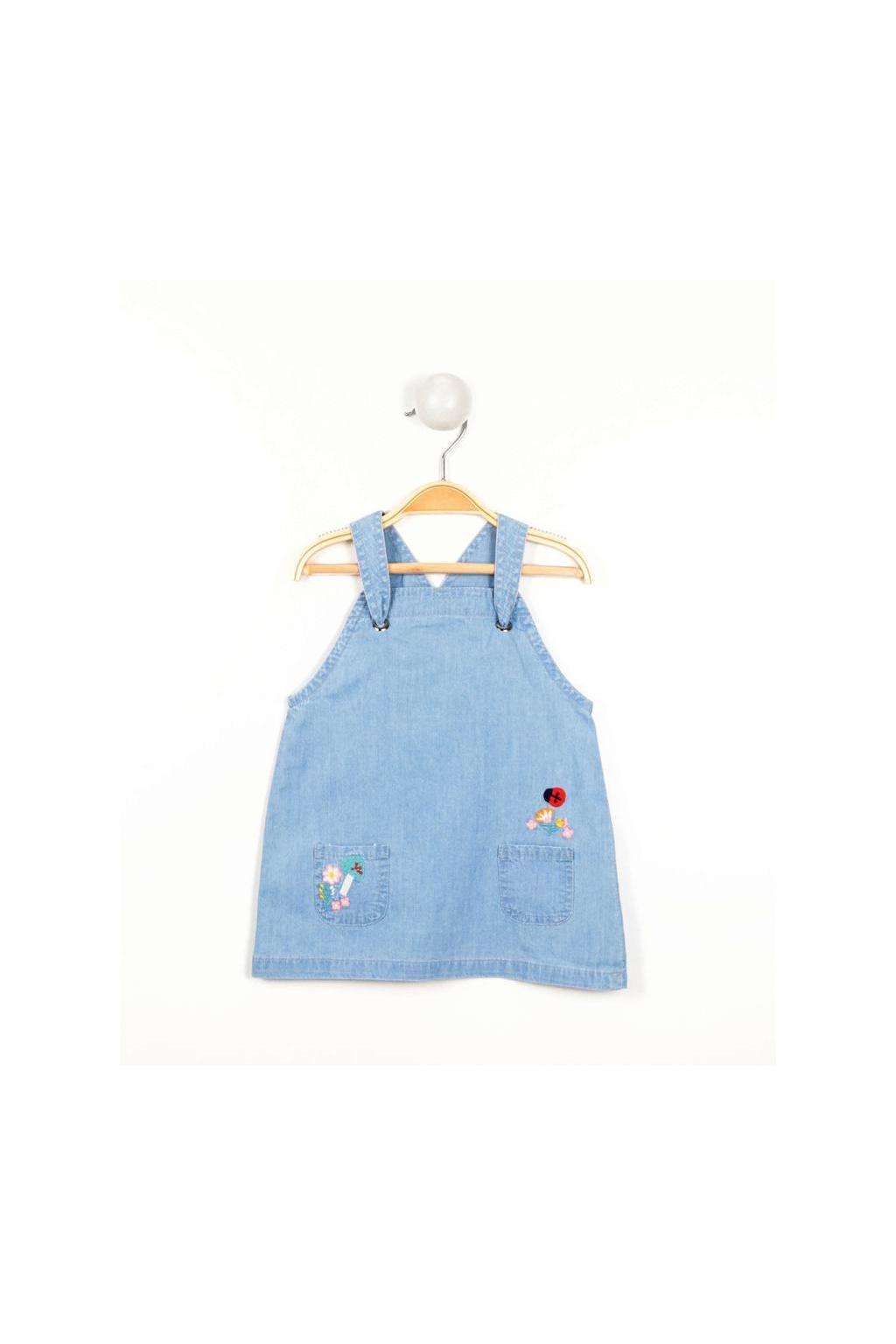 Dívčí džínové šaty s laclem