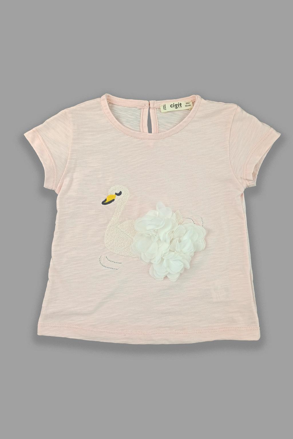 Dívčí tričko labuť organic