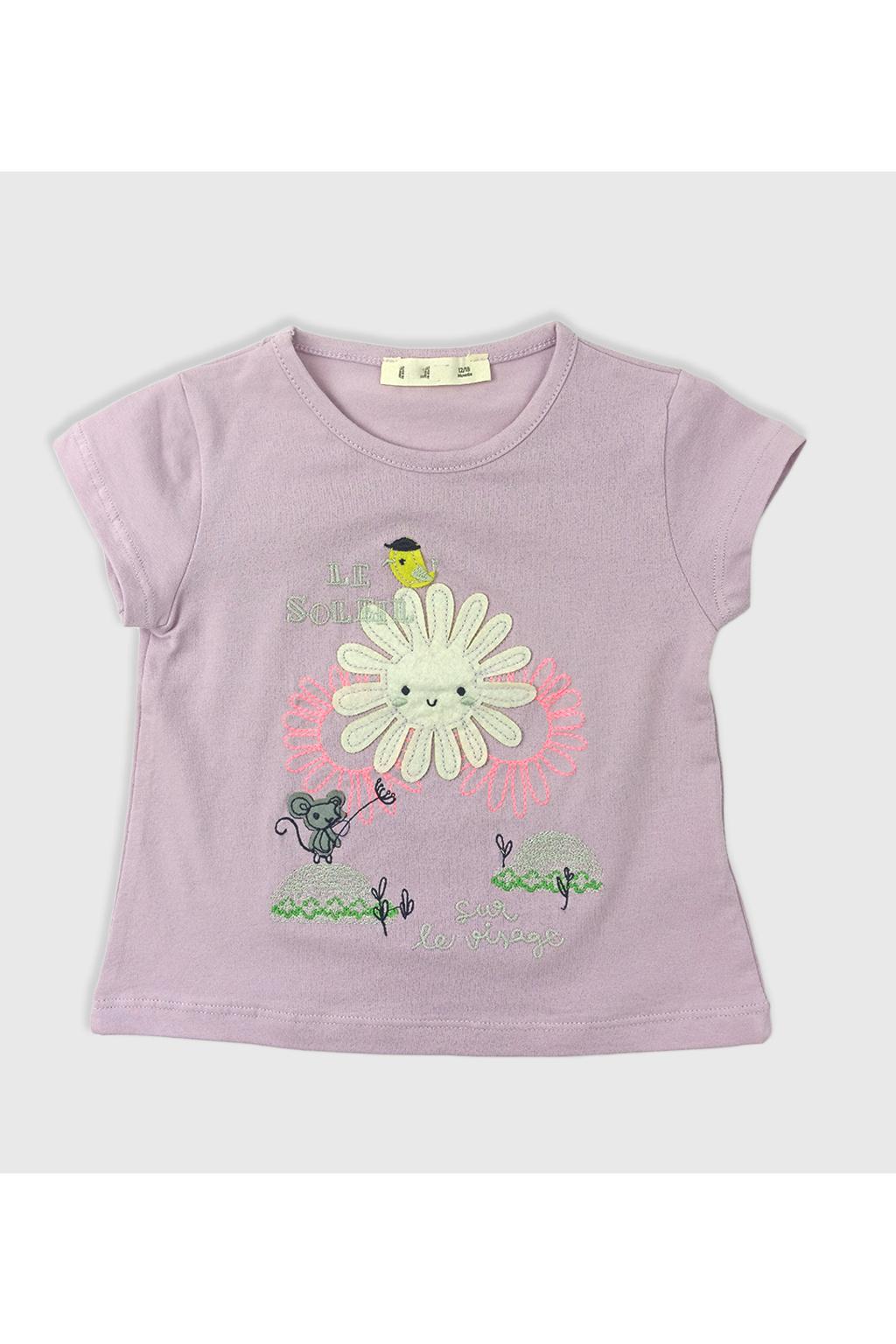 Dívčí tričko le soleil fialová