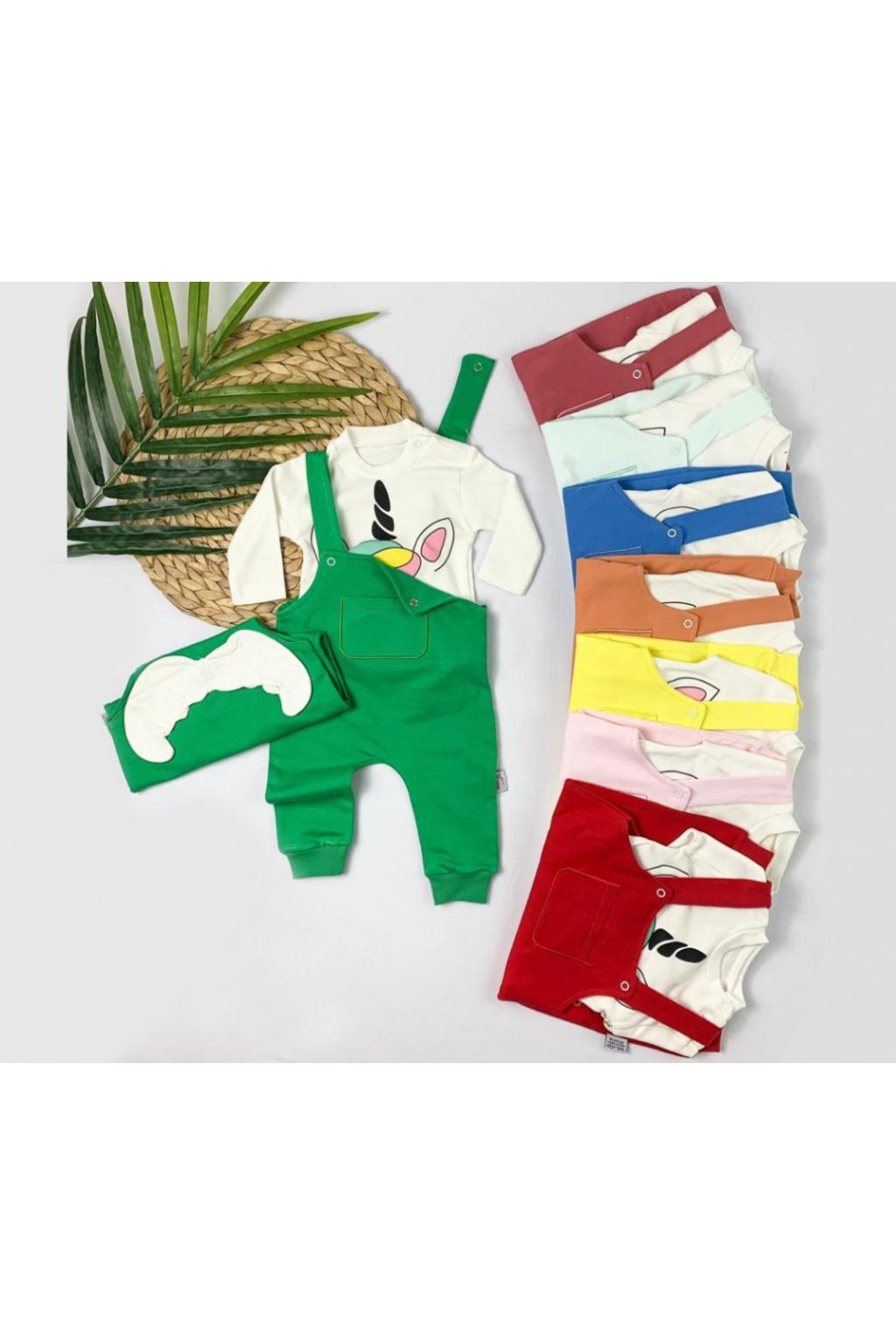 Cigit Kids dětské kalhoty s laclem