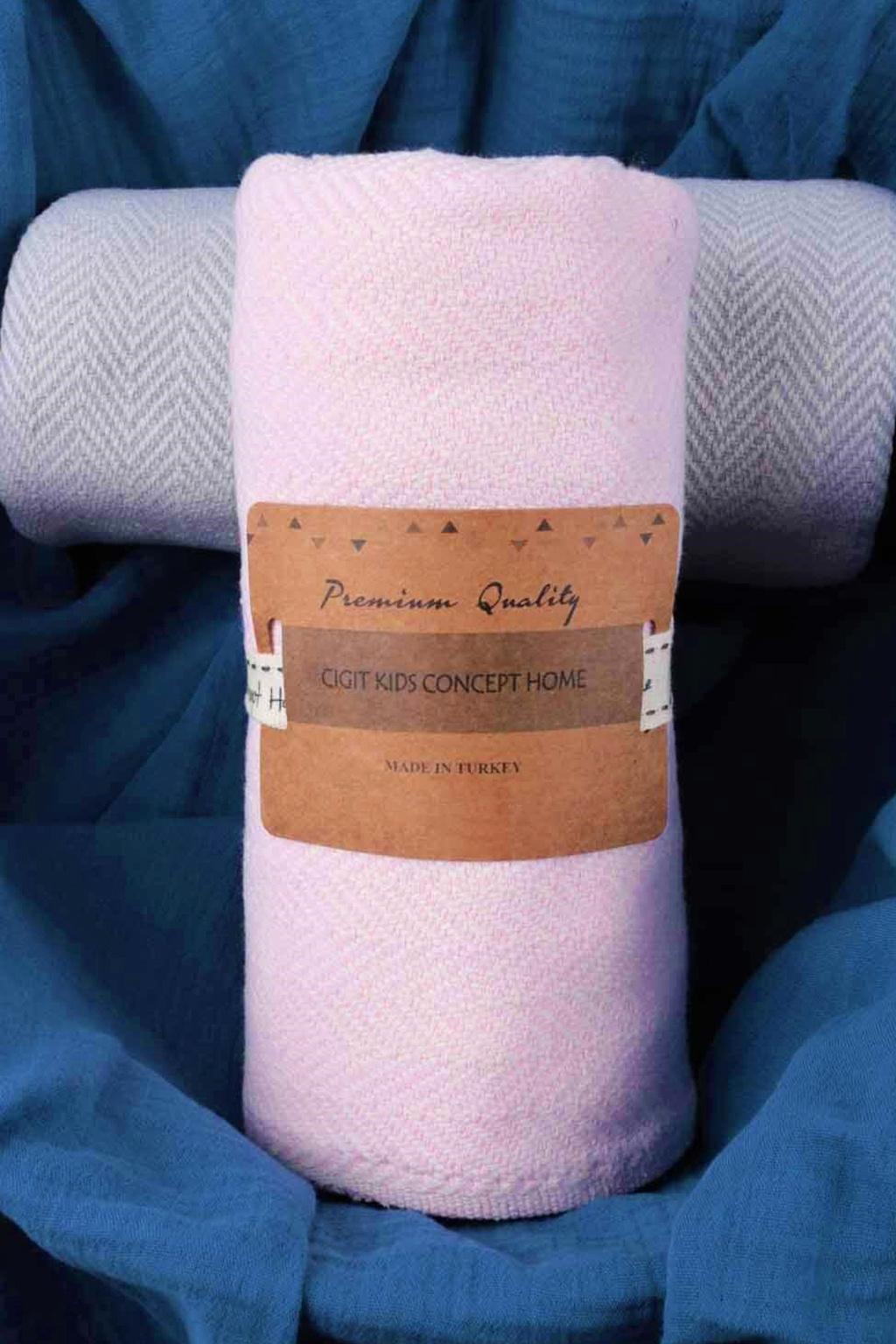 dětská kojenecká deka 93X100 růžová