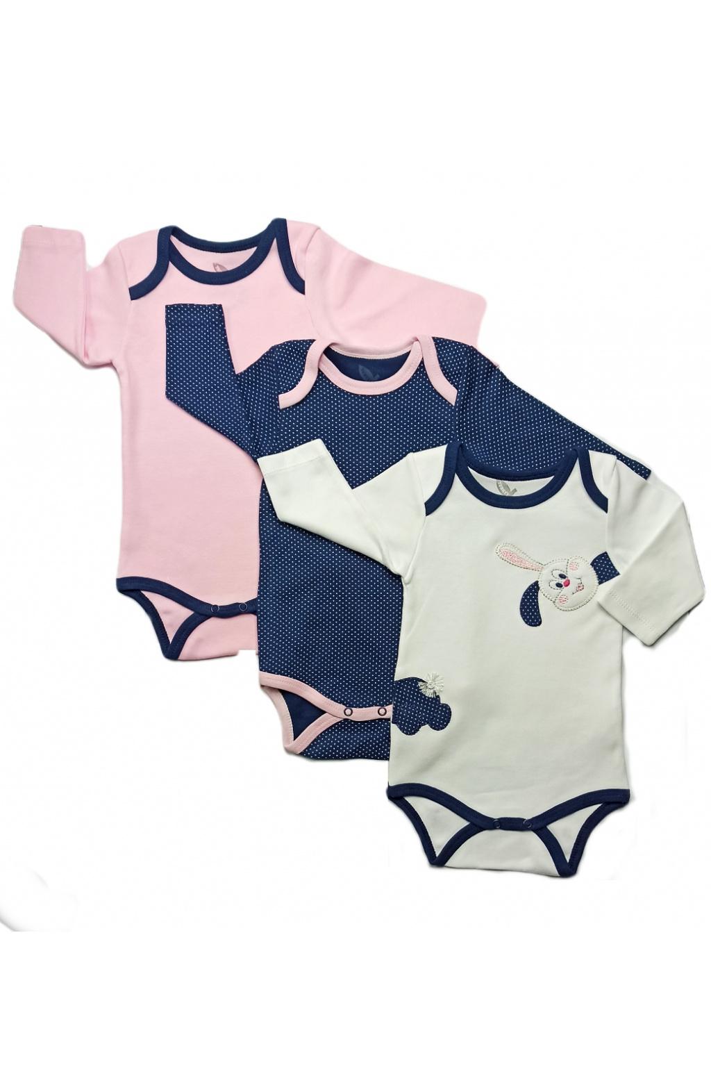 kojeneckédívčí body v růžové, bílé a modré barvě