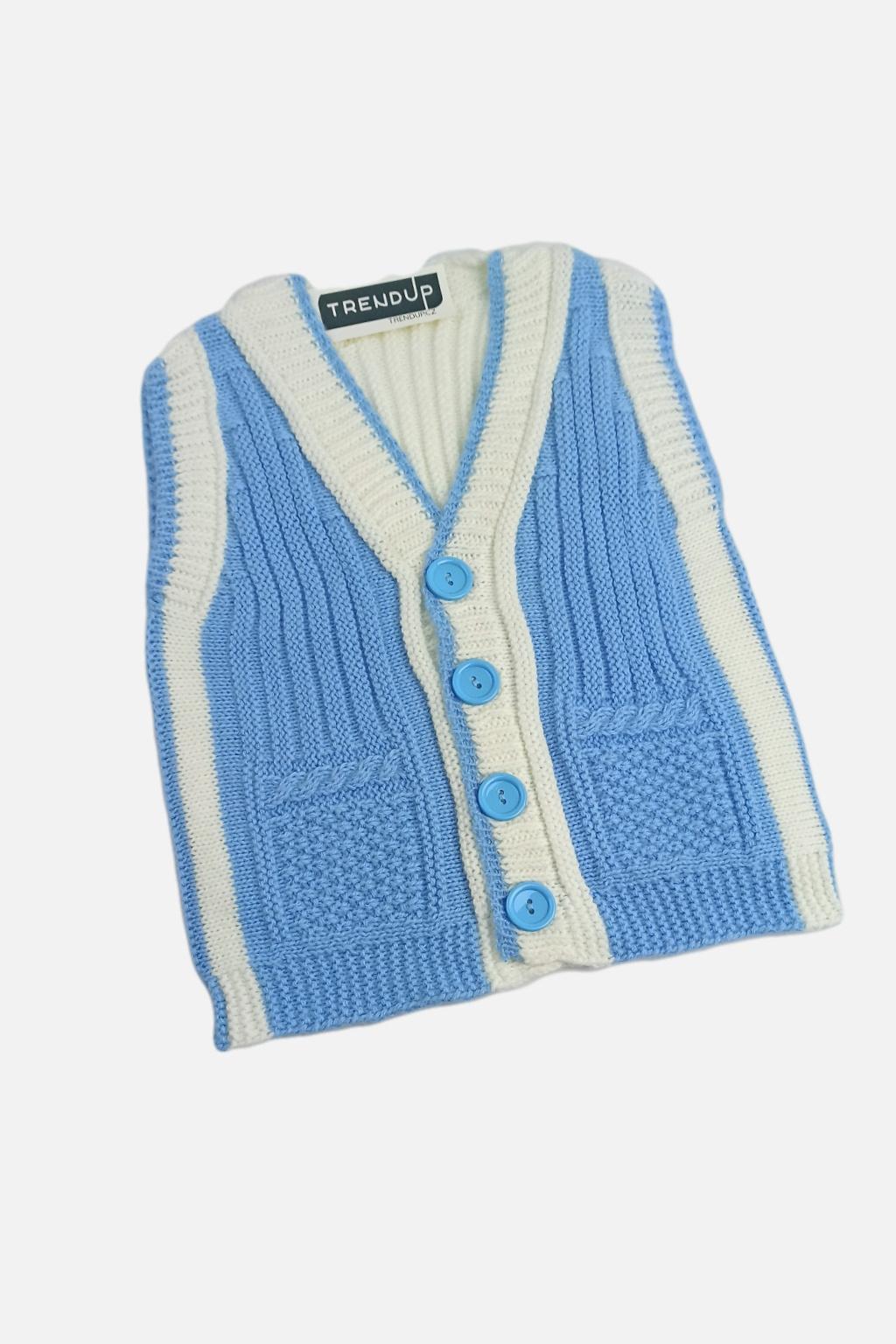 Dětský pletený svetr modry