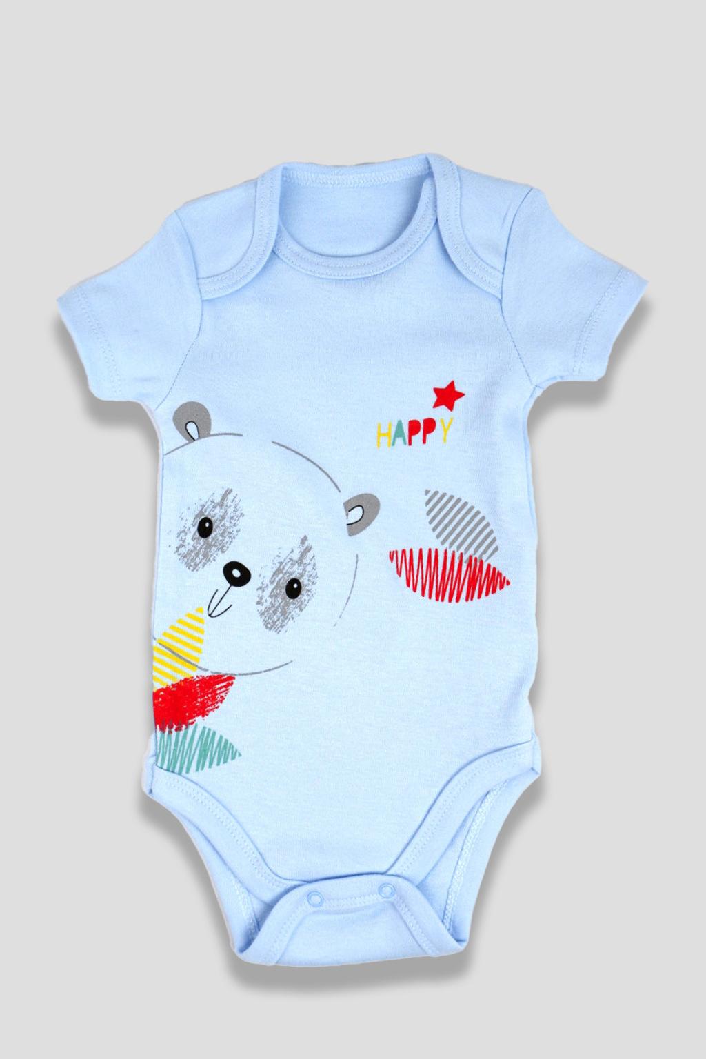 Bavlněné kojenecké body modré