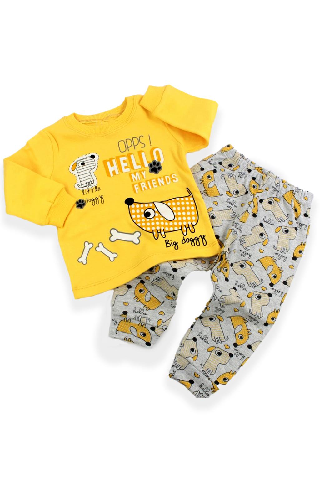 Dětské dvojdílné pyžamo žluté