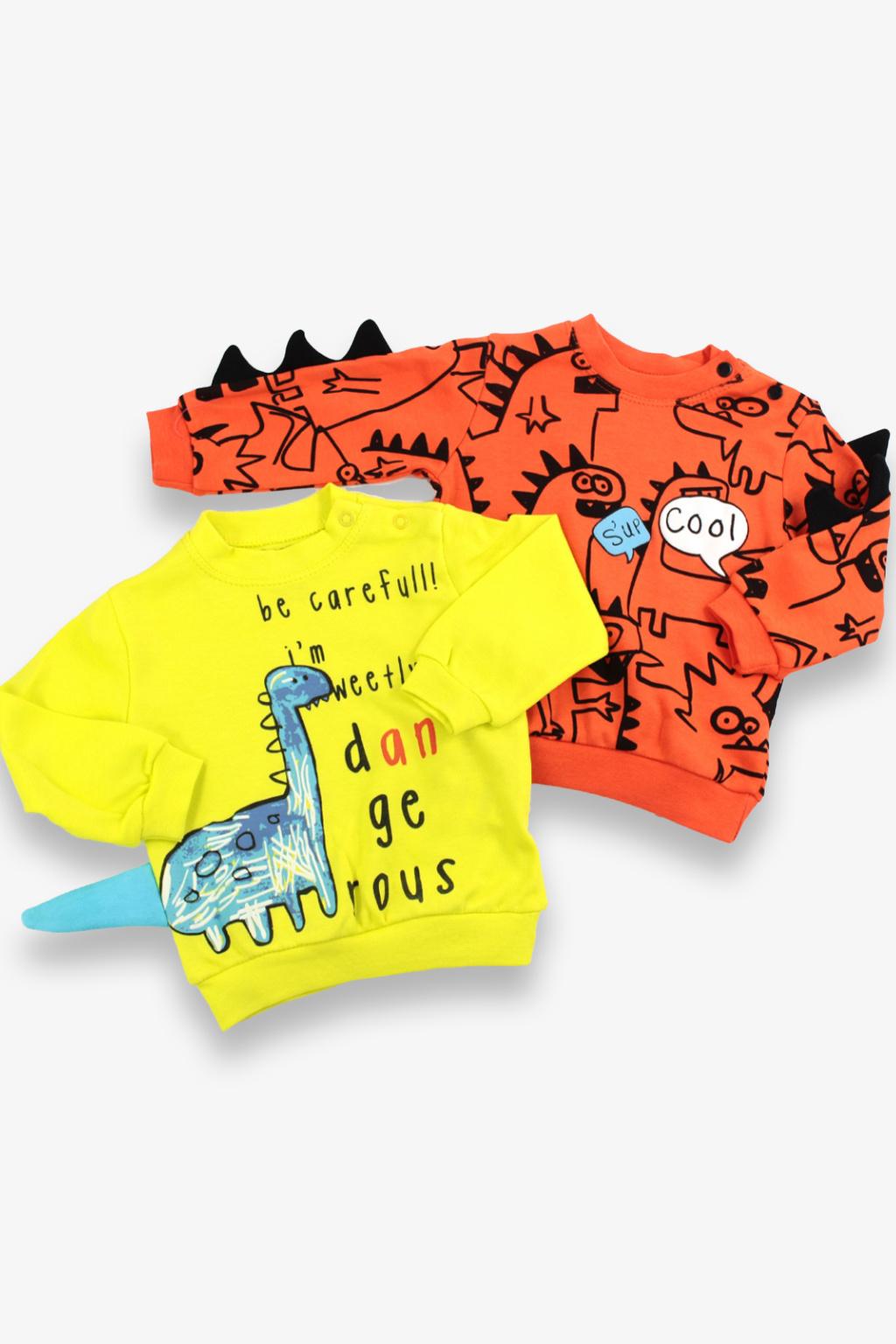 Multipack chlapecké mikiny Dinosaur