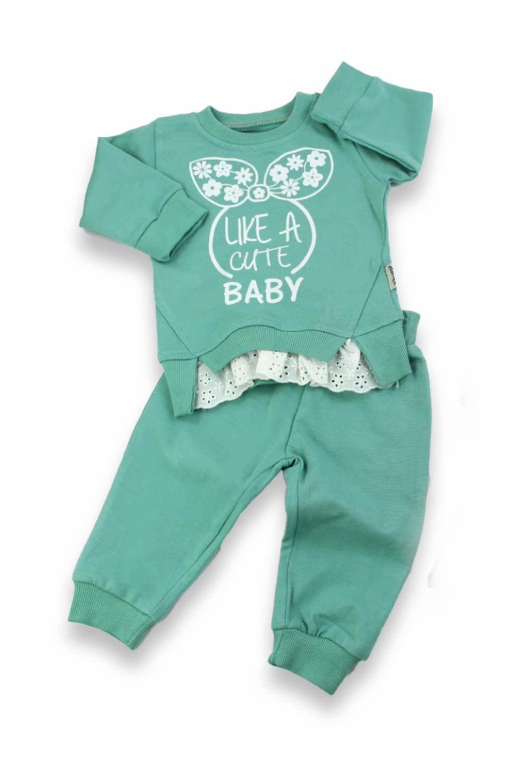 Tepláková souprava Cute Baby mátová