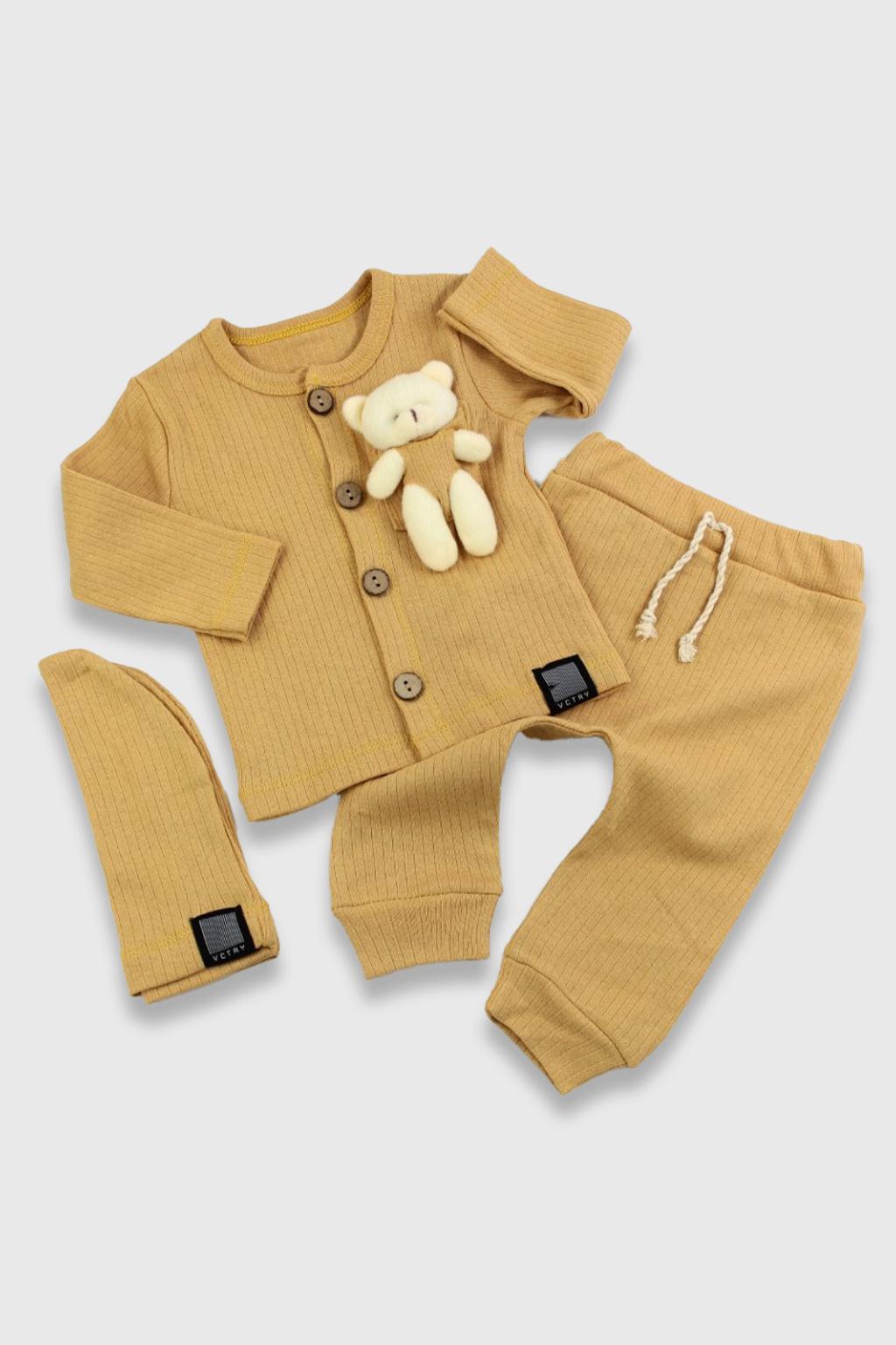 Tepláková souprava s hračkou v kapse Medvídek 2