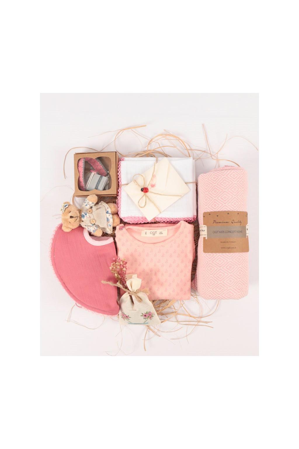 Cigit Premium růžový dárkový set pro holčičky2