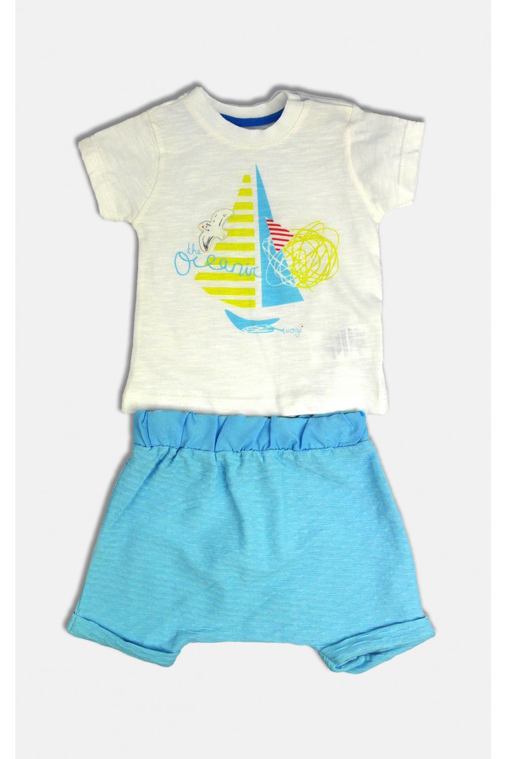 chlapecký letní set tričko s krátkým rukávem a kraťasy