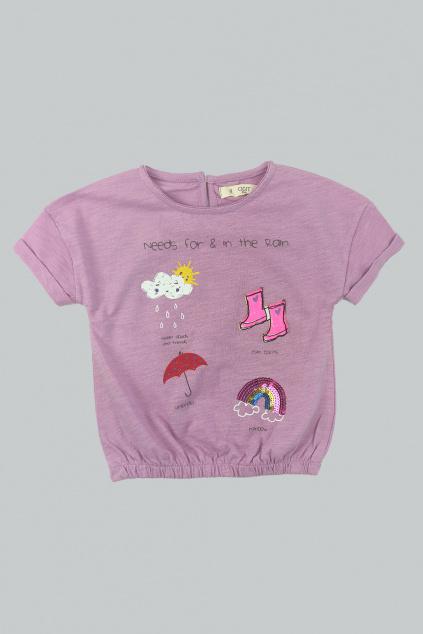Dívčí tričko Rain ve fialové barvě