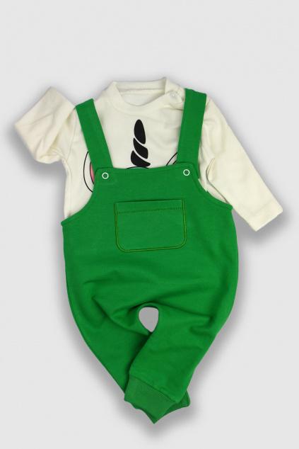 Dětské kalhoty s laclem a tričko Unicorn