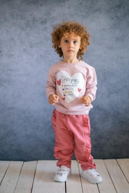 Dívčí mikina z přírodní bavlny Shopping list Cigit Kids