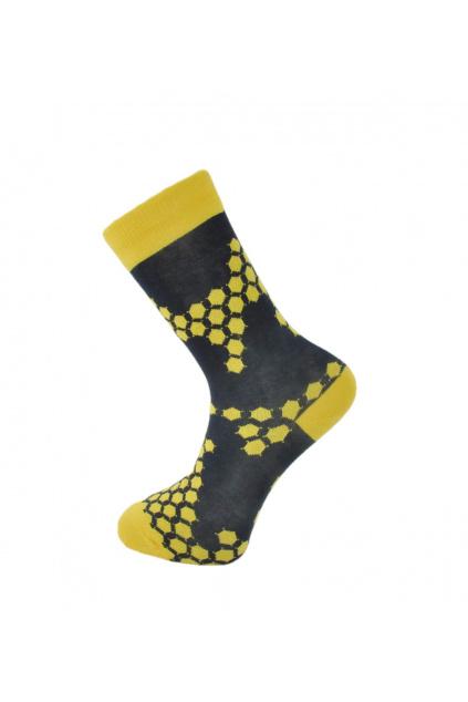 panske ponozky zlute