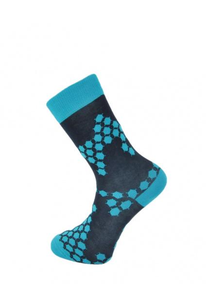 Vesele ponozky modre