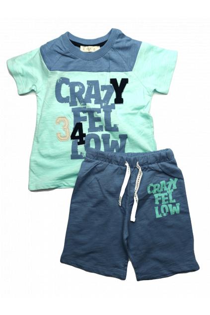 Crazy chlapecký set v modré barvě Cigit Kids