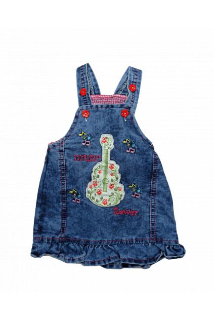 Džínové šaty s láclem3 min