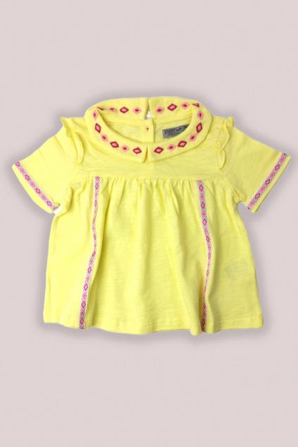 Dívčí tričko žlutá velikost 92