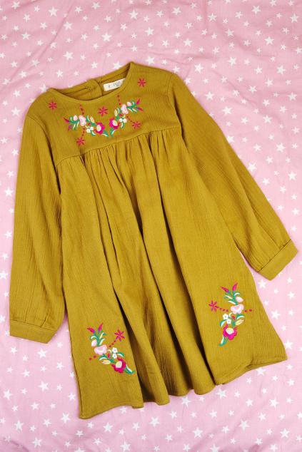 Dívčí mušelínové šaty