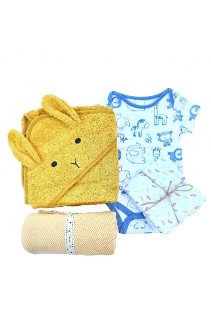 Darkovy set pro miminko body detska deka a detsky rucnik