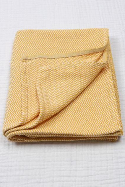 Luxusní dětská deka hořčicová