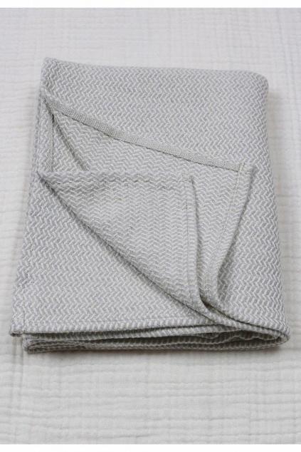 Luxusní dětská deka 93X100 cm šedá