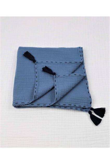 muselinova deka modra