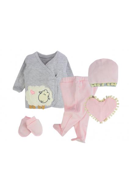 5-dílná kojenecká souprava Ovečka