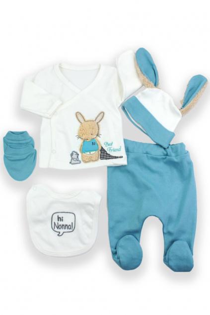 5 dílná kojenecká souprava Zajíček