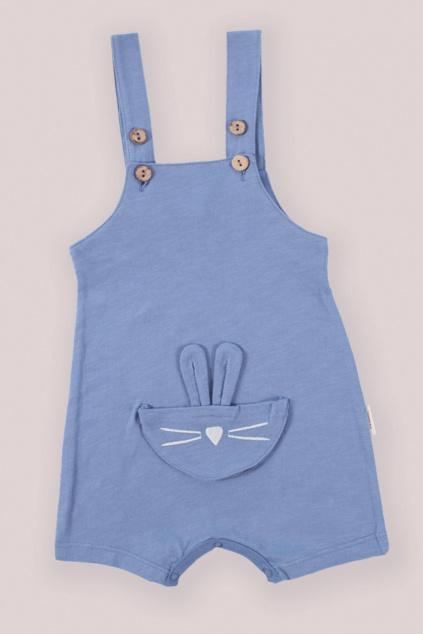 Kraťasy s laclem Zajíček indigo modré