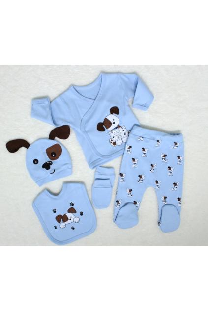 5-dílná kojenecká souprava Cool Dog modrá