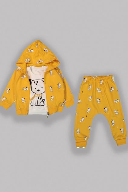 3 dílna dětská stylová souprava žlutá
