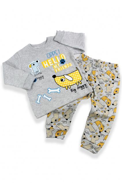 Dvojdílné pyžamo Big doggy šedé