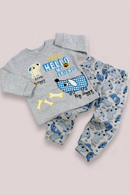 Dvojdílné pyžamo Big doggy modré
