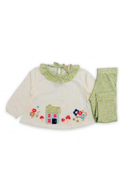 dívčí tričko a legínky