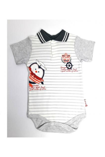 Proužkované dětské kojenecké body 1