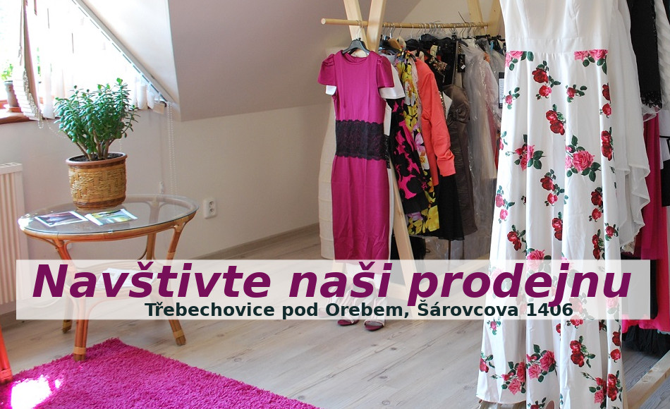 Navštivte naší prodejnu společenských šatů