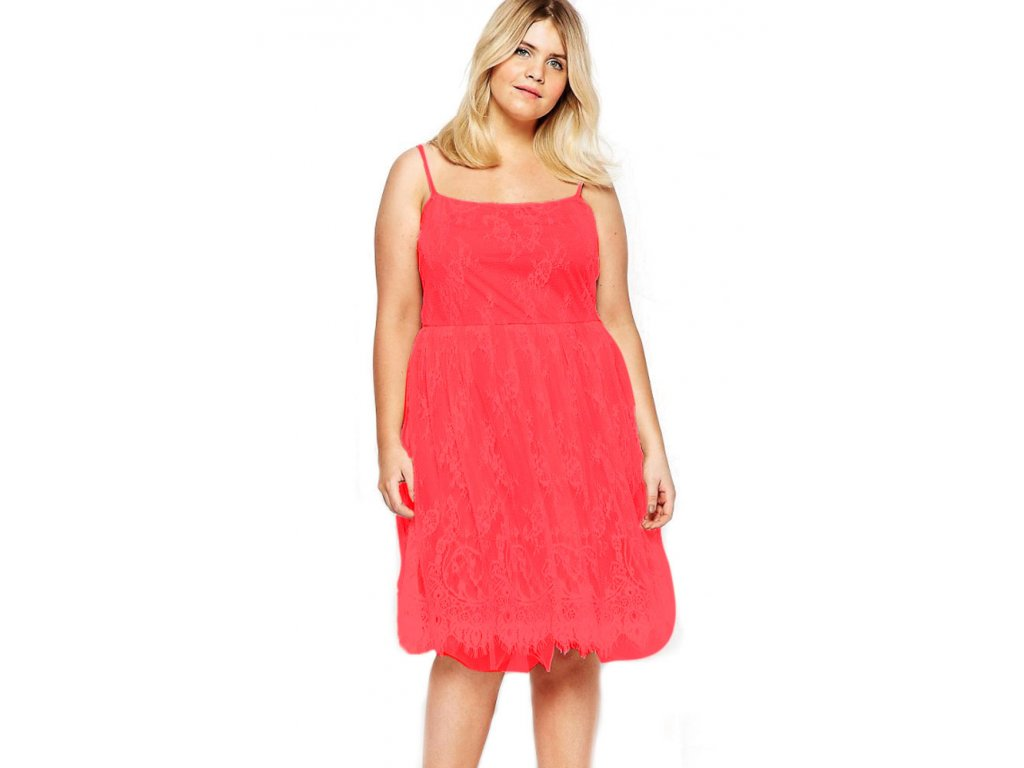 Red Big Girl Sweet Lace Skater Dress LC61071 10 16703