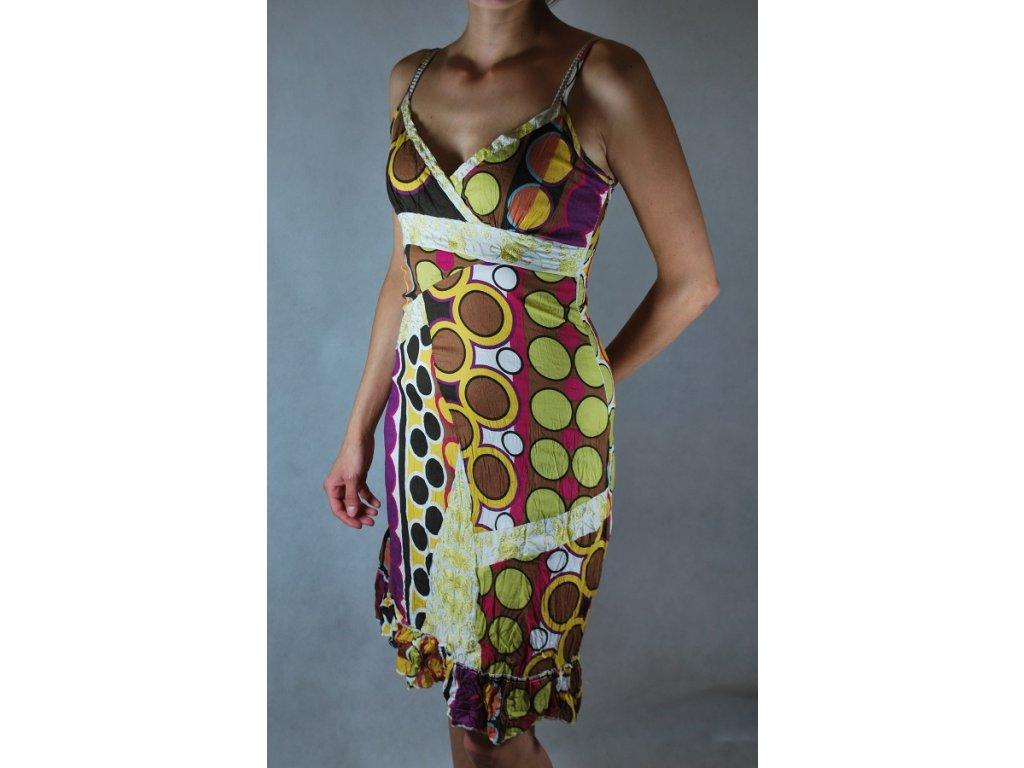 Bavlněné šaty krátké letní vzory FD20-do 1-3 dní-M